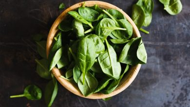 spinach-apple salad, salad, side dish, spinach
